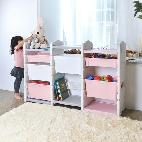 +O家窩|伊格玩具直取收納三櫃組(6大2小收納箱)-DIY(2色可選)