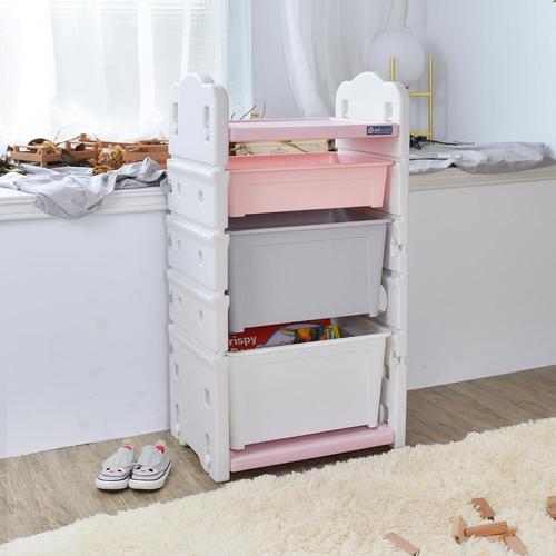 +O家窩|伊格玩具直取收納櫃(2大1小收納箱)-DIY(2色可選)