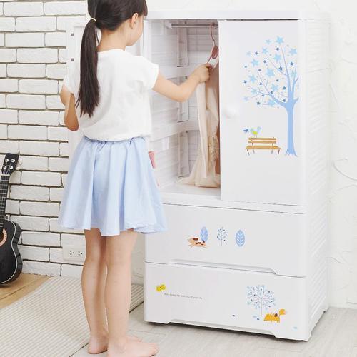 +O家窩|貝格紫外線除菌兒童吊掛衣櫃-DIY-4色可選