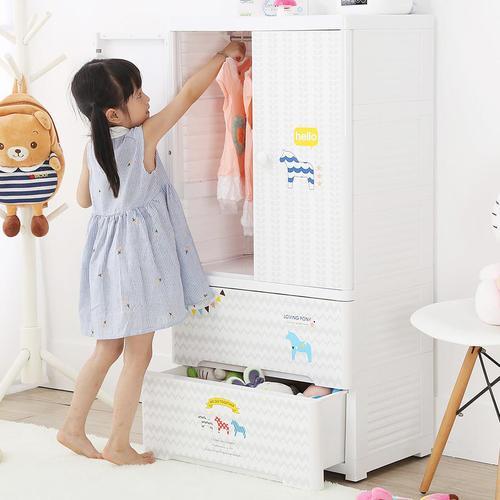 +O家窩|貝格雙開門式兒童吊掛衣櫃-快樂小馬-DIY