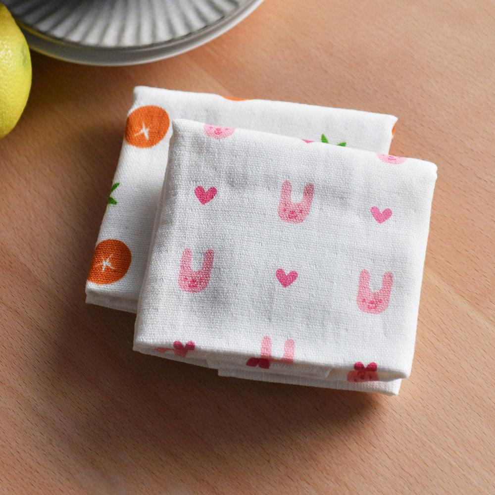 OKA 銀離子抗菌防臭棉紗棉絨雙面清潔方巾(30x30cm)-3條入-4色可選