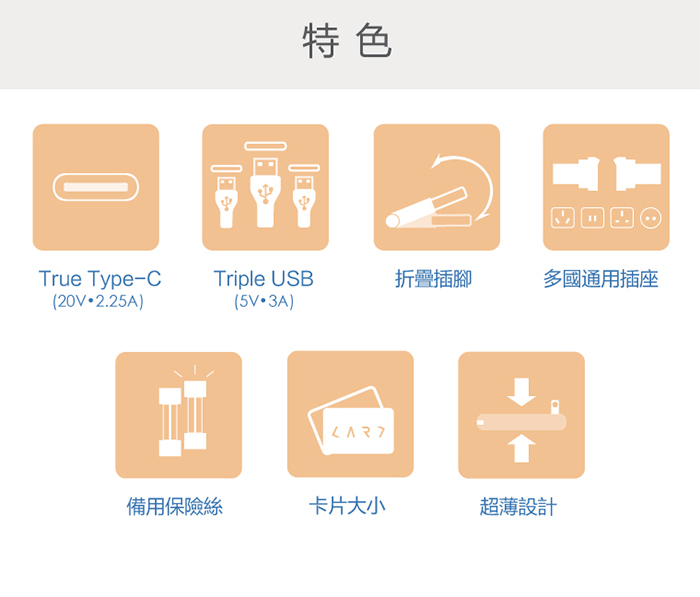 CARD|首創 USB Type-C 多埠全球旅用萬國插座 (黑色)
