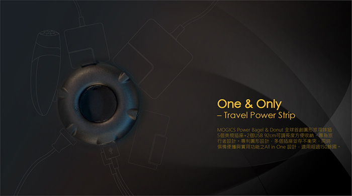MOGICS|Power Bagel 圓形排插(兩色任選)