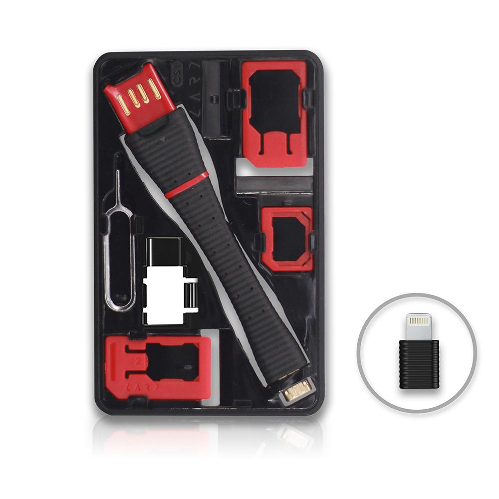 CARD│CS1 Pro SIM 轉接卡/隨身碟/充電傳輸 工具組 - 附 Lightning充電頭