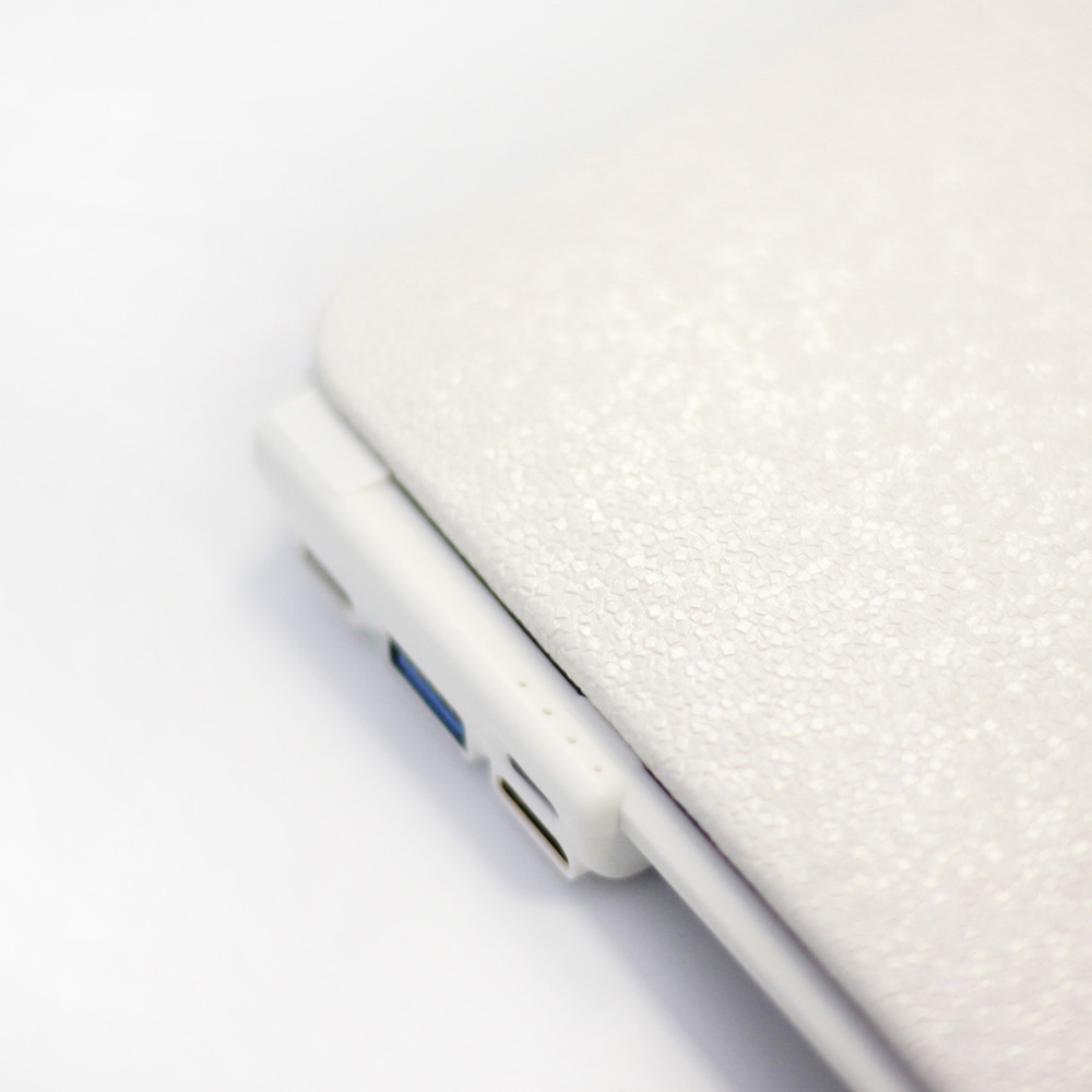 CARD|BOOST-MacBook 12 終極HUB擴充筆電殼 - 珍珠白