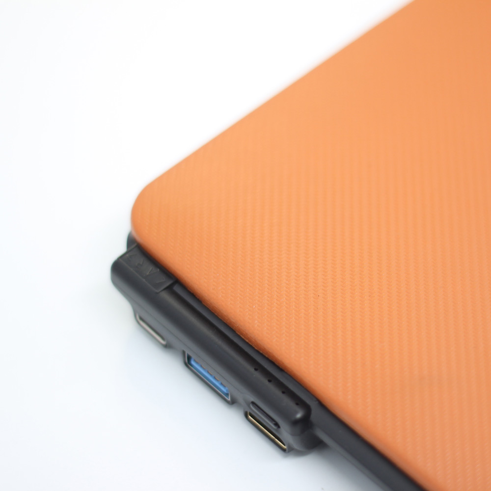 CARD|BOOST-MacBook 12 終極HUB擴充筆電殼 - 珊瑚橘