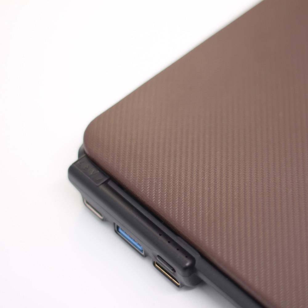 CARD|BOOST-MacBook 12 終極HUB擴充筆電殼 - 摩卡棕