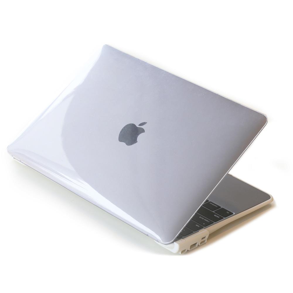 CARD|BOOST-MacBook 12 終極HUB擴充筆電殼 - 透明/白