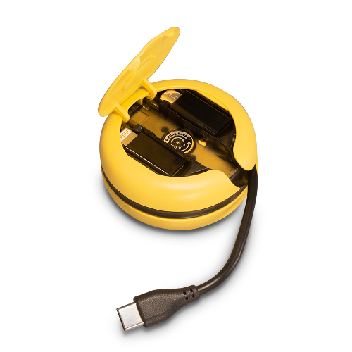 MOGICS︱Macaron PD 45W 高功率三合一折疊圓形車充(黃色)