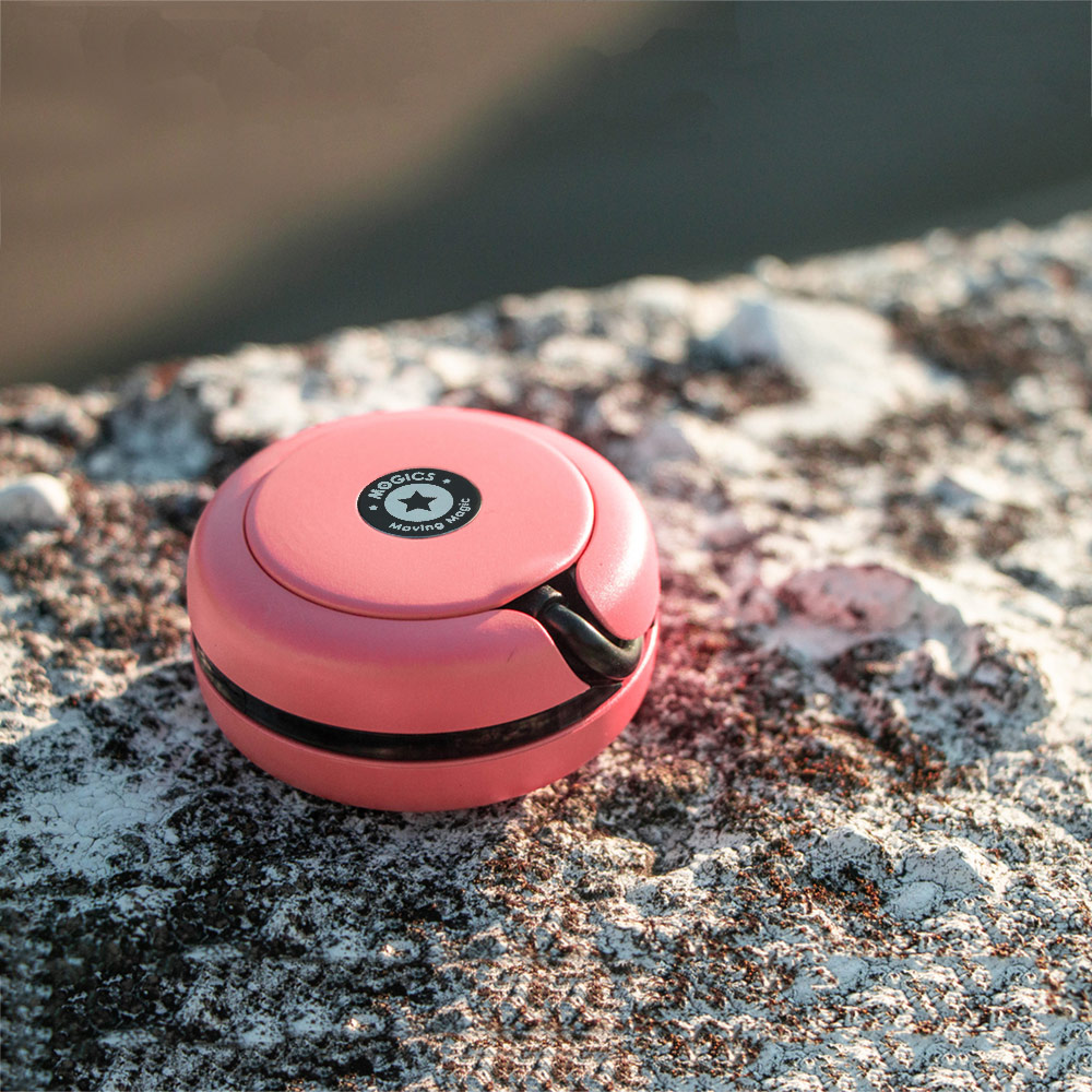 MOGICS︱Macaron PD 45W 高功率三合一折疊圓形車充(粉色)
