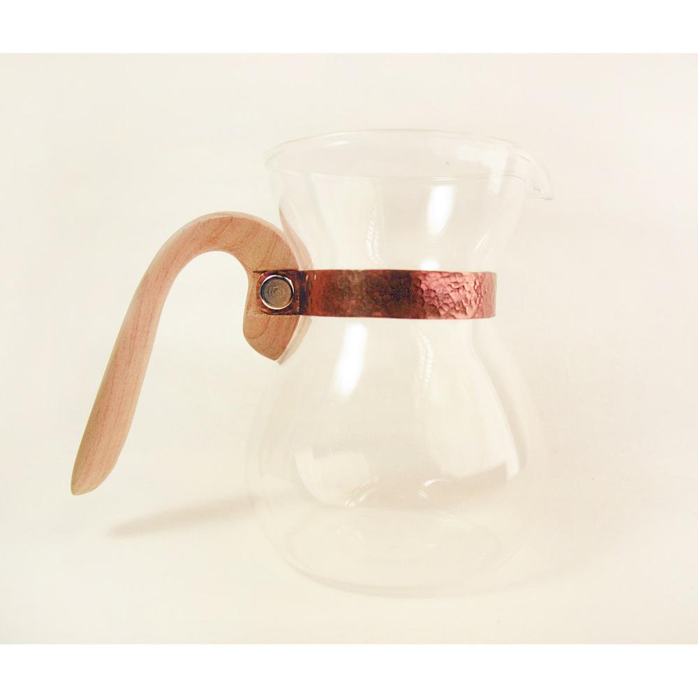 WM木合金 露・La Rosée木質手感咖啡壺組-1壺1匙1盤(台灣檜木)
