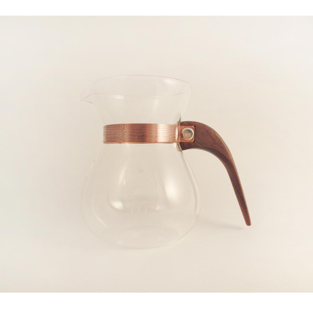 WM木合金|露・La Rosée木質手感咖啡壺組-簡約款-1壺(巴拉圭紫檀木)