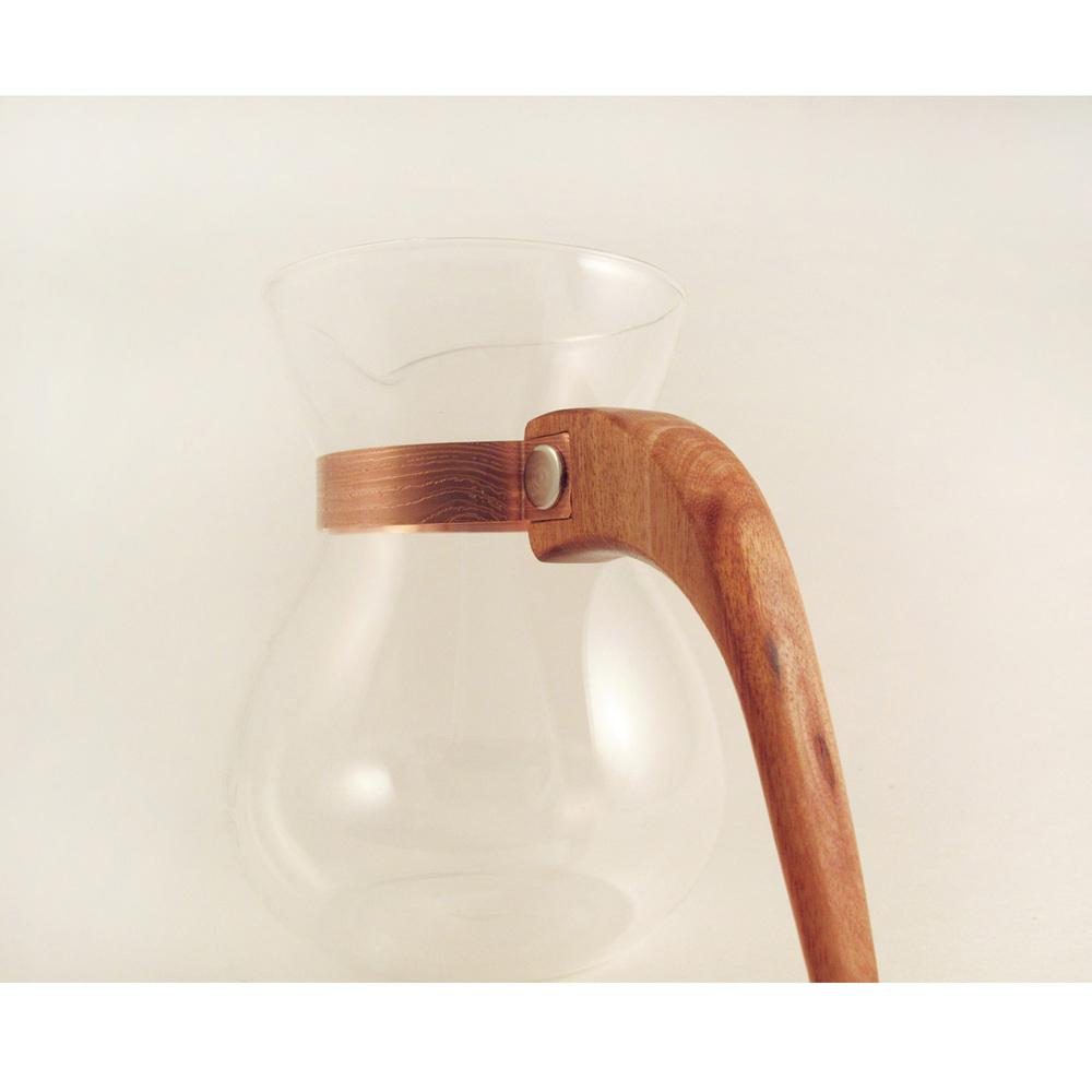 WM木合金|露・La Rosée木質手感咖啡壺組-簡約款-1壺(南美桃花心木)