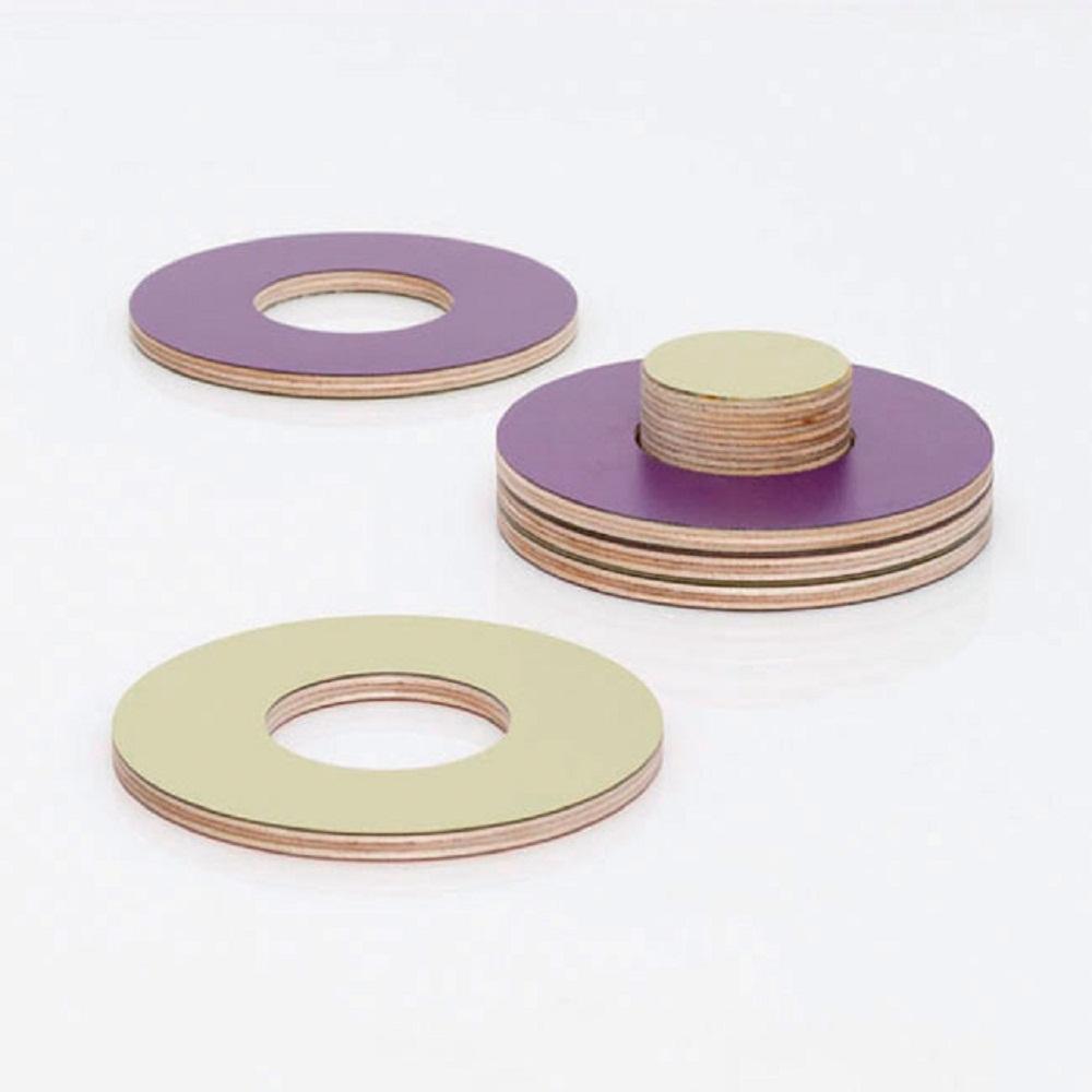 BLOCK Block Coasters 木質杯墊 (紫色/橄欖綠)