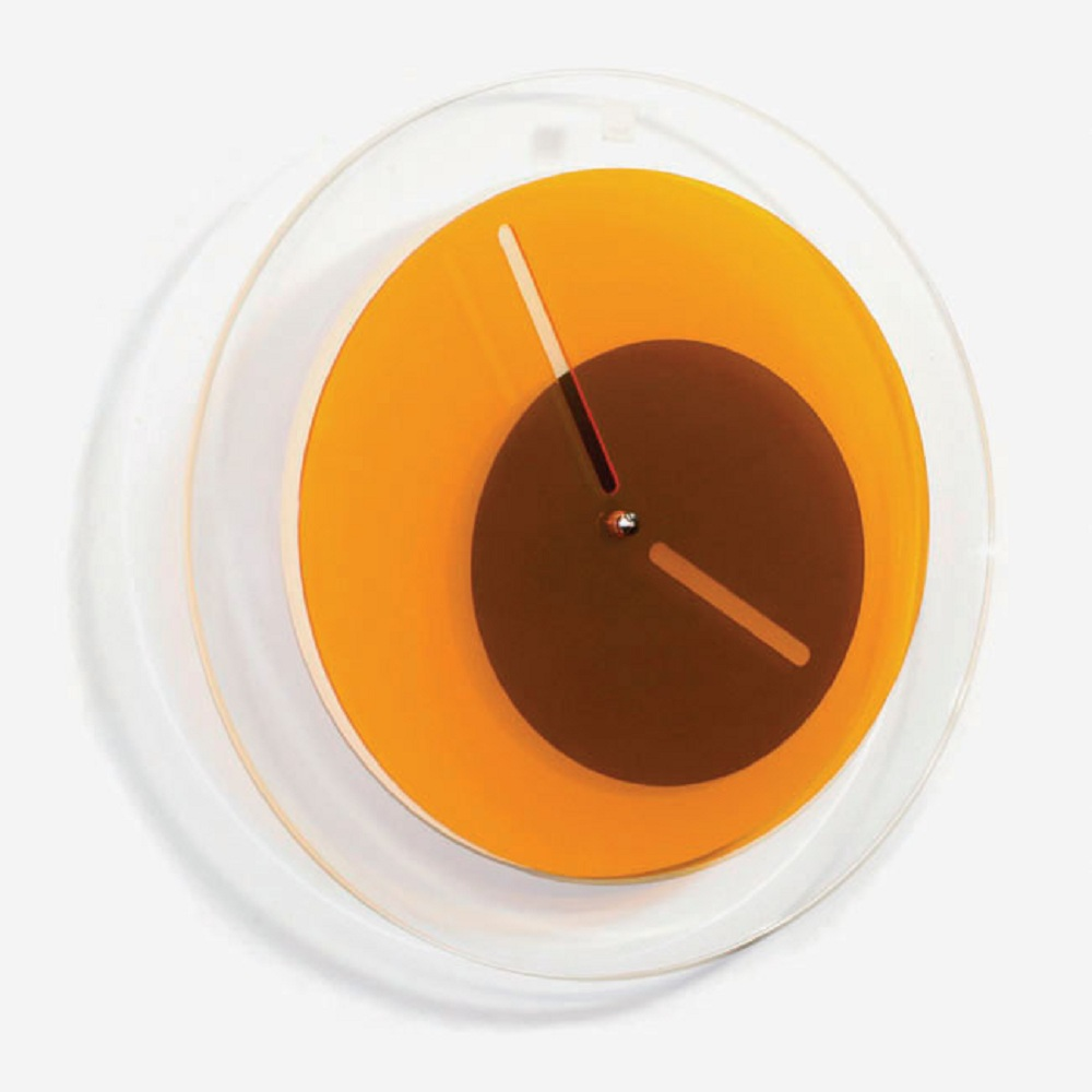 BLOCK|Orbit Clock 環行鐘 (橘色)