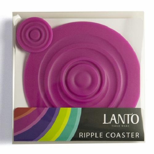 LANTO|Ripple Coaster 漣漪杯墊組(桃)