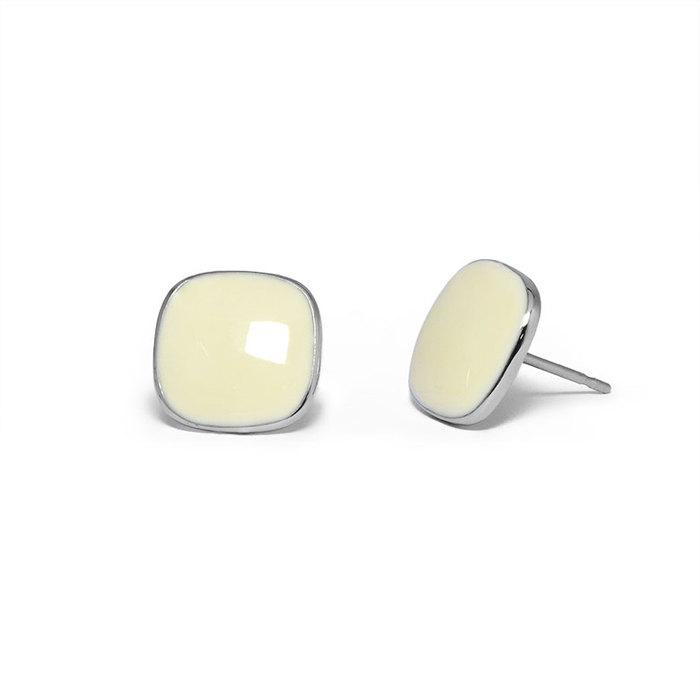 Miaarte|方形不鏽鋼耳環