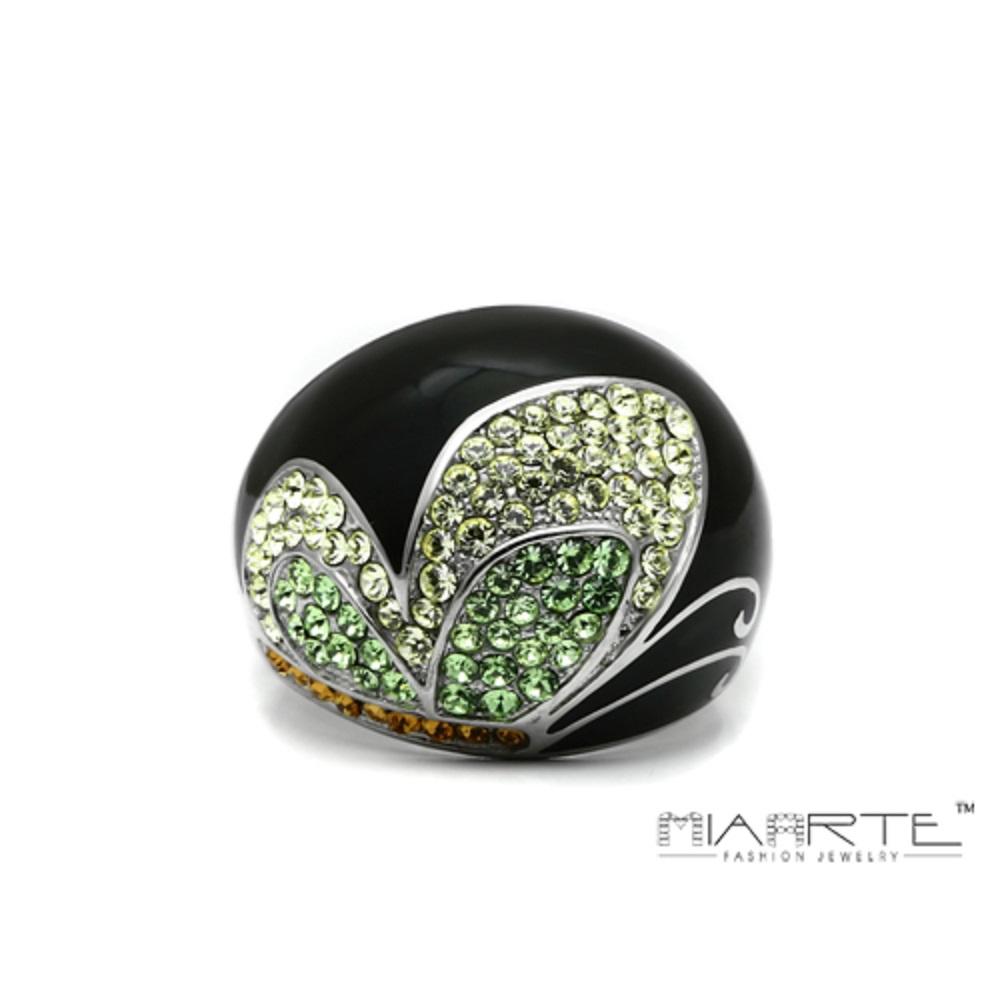 Miaarte|蝴蝶造型不鏽鋼水鑽戒指
