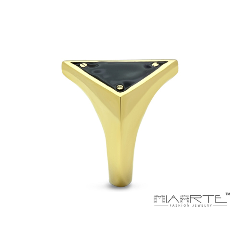 Miaarte|極簡風格幾何造型鍍金戒指