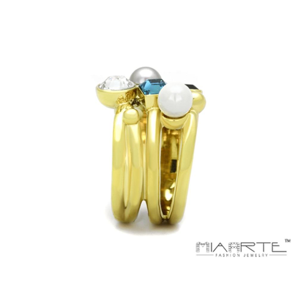 Miaarte|混搭時尚水鑽戒指