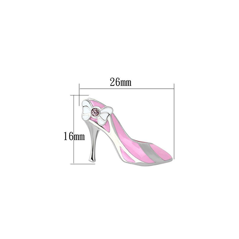 Miaarte|粉色高跟鞋造型不銹鋼耳環