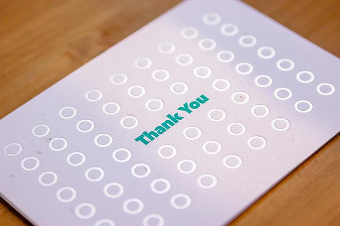 (複製)WOOPAPERS|THANK YOU 種子感謝卡 (Dots)