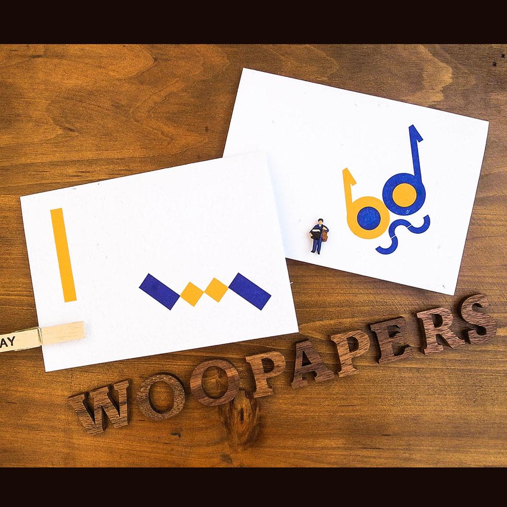 WOOPAPERS|種子紙萬用卡-眼鏡貓