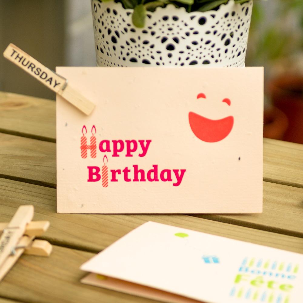 WOOPAPERS 生日快樂 Happy Birthday! 種子卡片