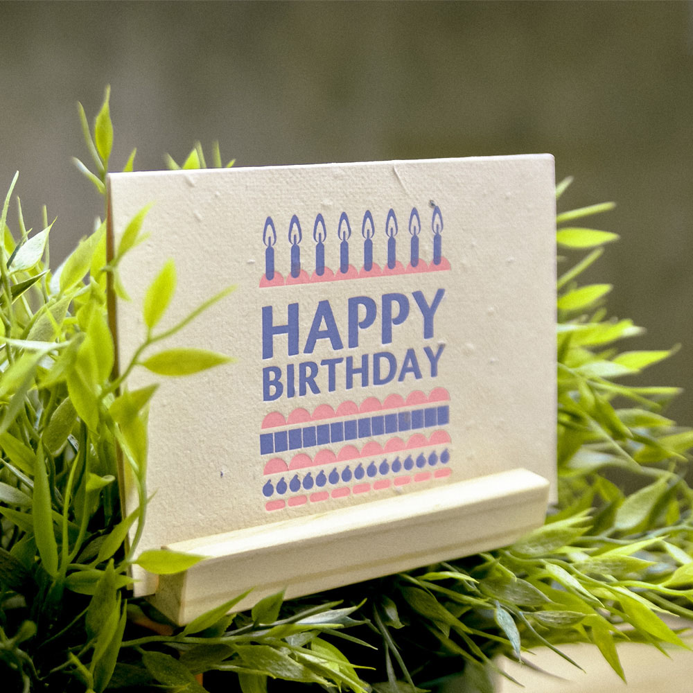 WOOPAPERS|生日快樂 Happy Birthday Cake! 種子卡片