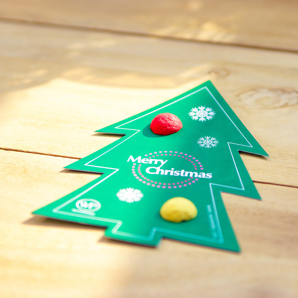 WOOPAPERS|聖誕樹造型卡片 -  種子球