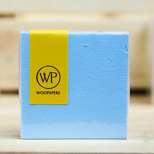 WOOPAPERS|種子便條紙磚 混色款 - Beach (海水藍、白色、焦糖棕)