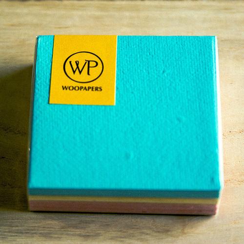 WOOPAPERS|種子便條紙磚 混色款 - Romantic  (藍、黃、粉)