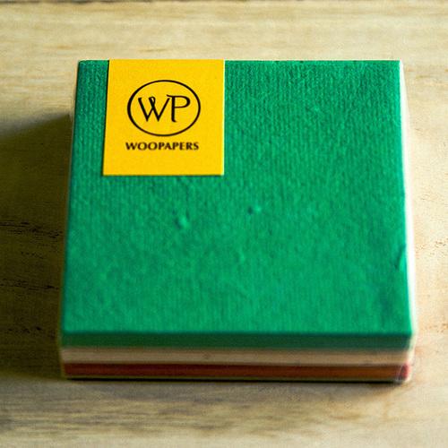 WOOPAPERS|種子便條紙磚 混色款 - Tropical (綠、米、紅)