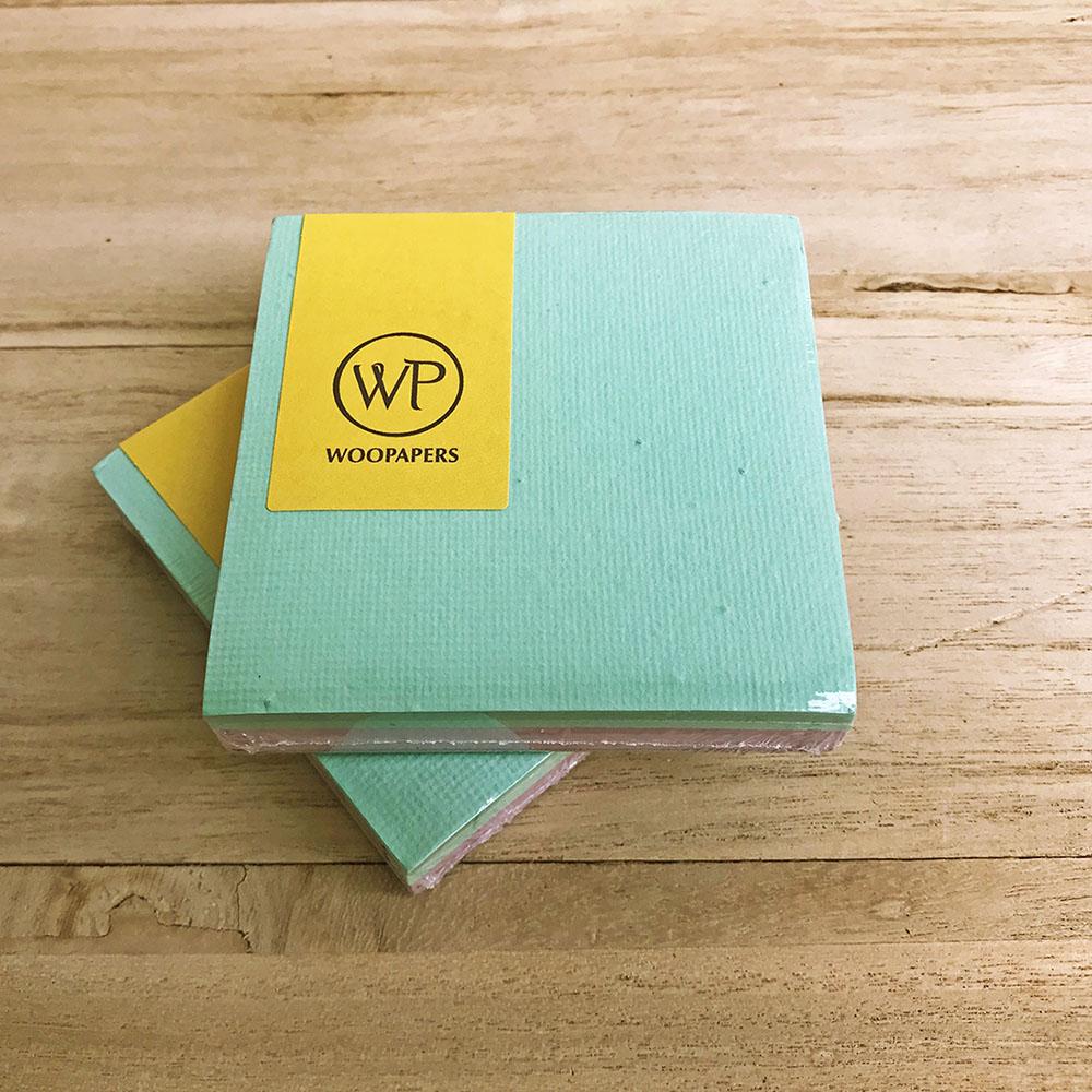 WOOPAPERS 種子便條紙磚 雙色款 - Breeze (薄荷綠、淺紫)