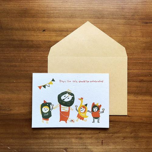 WOOPAPERS|種子紙生日卡 Days like this...獅子和小孩與長不大的小孩