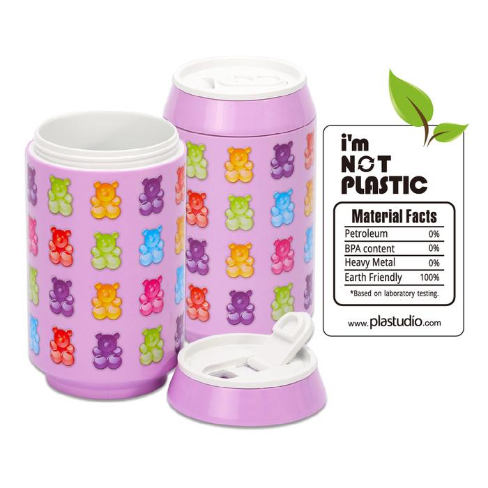 (複製)(複製)(複製)(複製)plastudio|玉米材質環保杯-Eco Can-280-軟糖熊-紫色