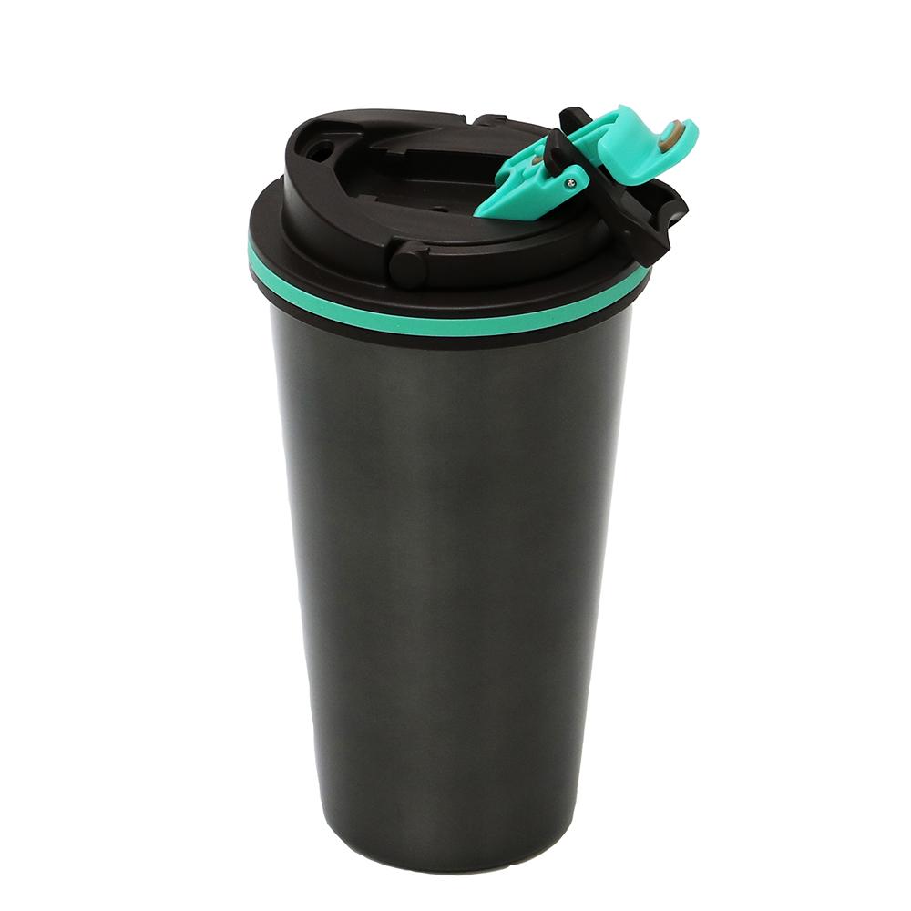 plastudio|拉拉扣不鏽鋼保溫杯-500ml(太空灰)-專利設計