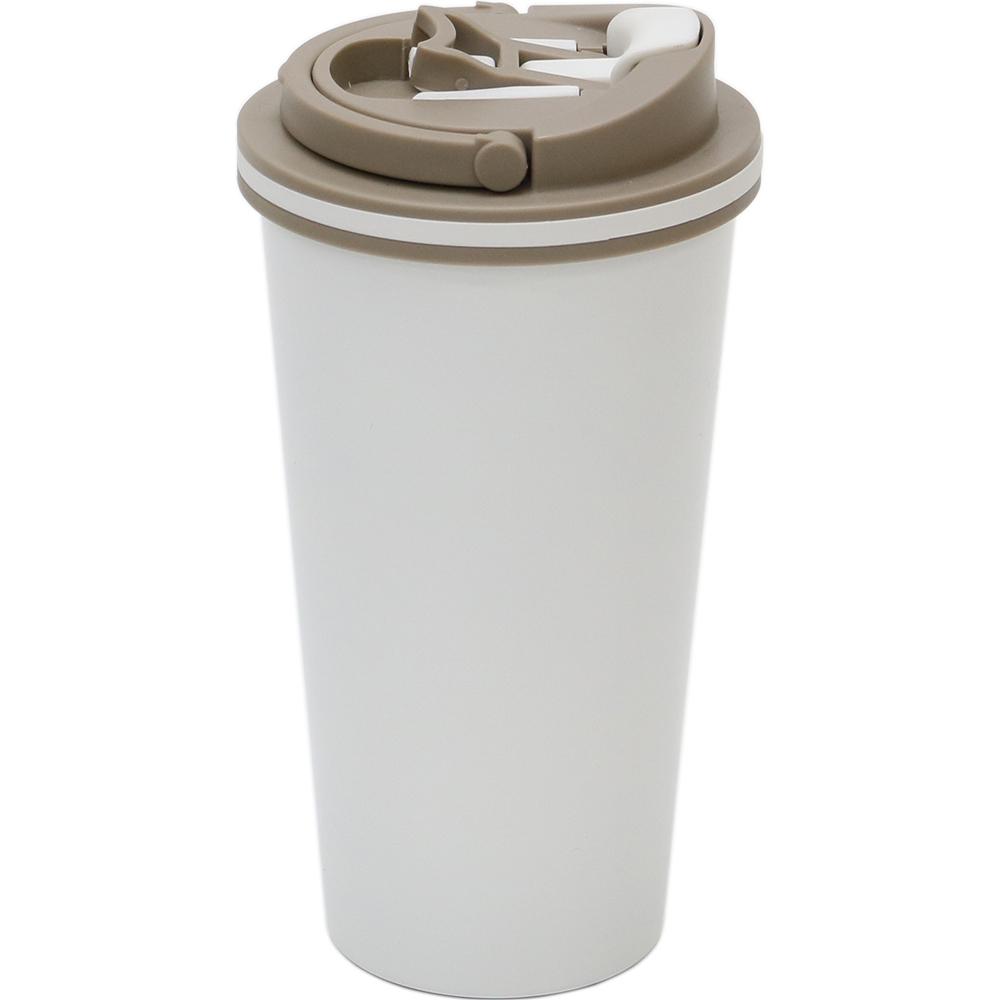 plastudio|拉拉扣不鏽鋼保溫杯-500ml(時尚白)