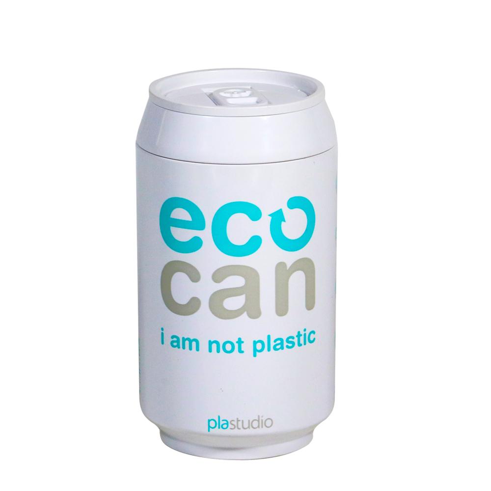 plastudio|玉米材質環保杯-Eco Can-280ml-白色-生物可分解材料