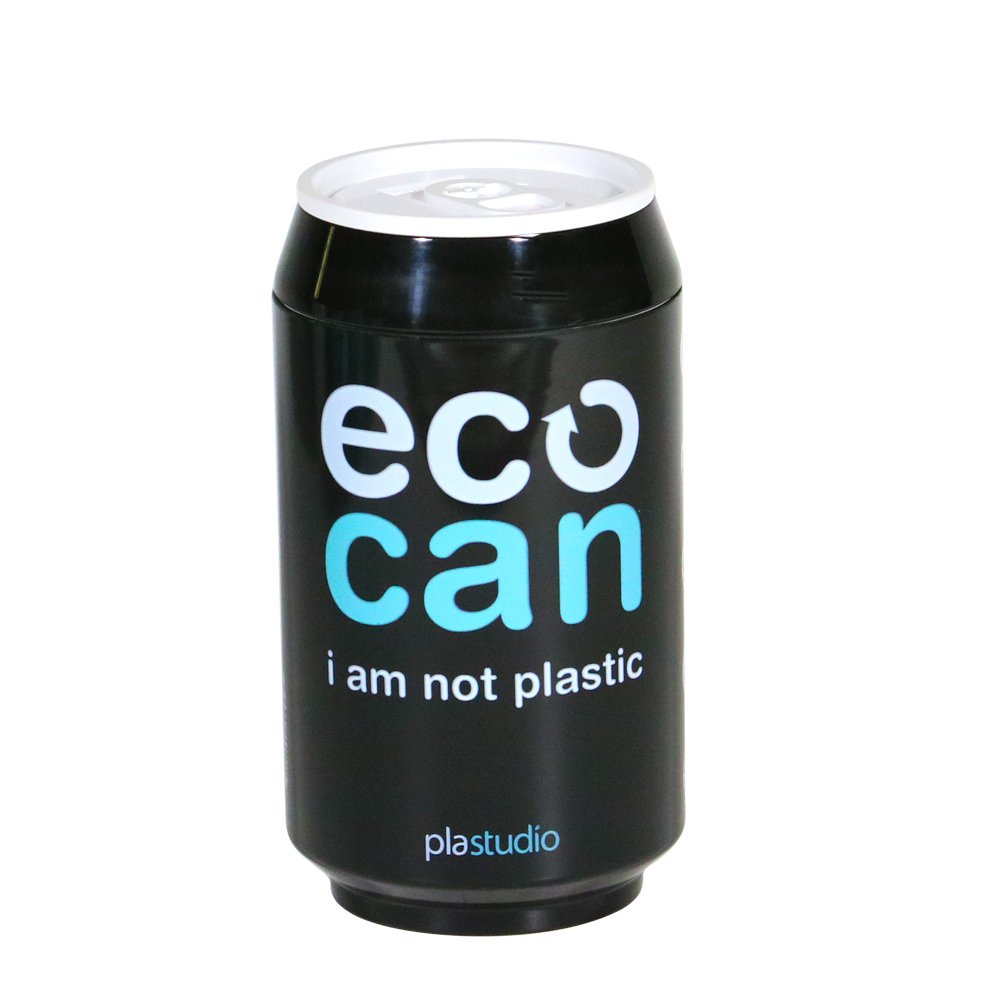 plastudio|玉米材質環保杯-Eco Can-280ml-黑色-生物可分解材料