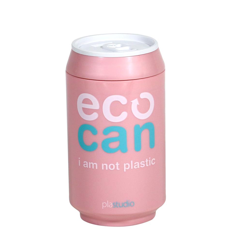 plastudio|玉米材質環保杯-Eco Can-280ml-粉紅-生物可分解材料