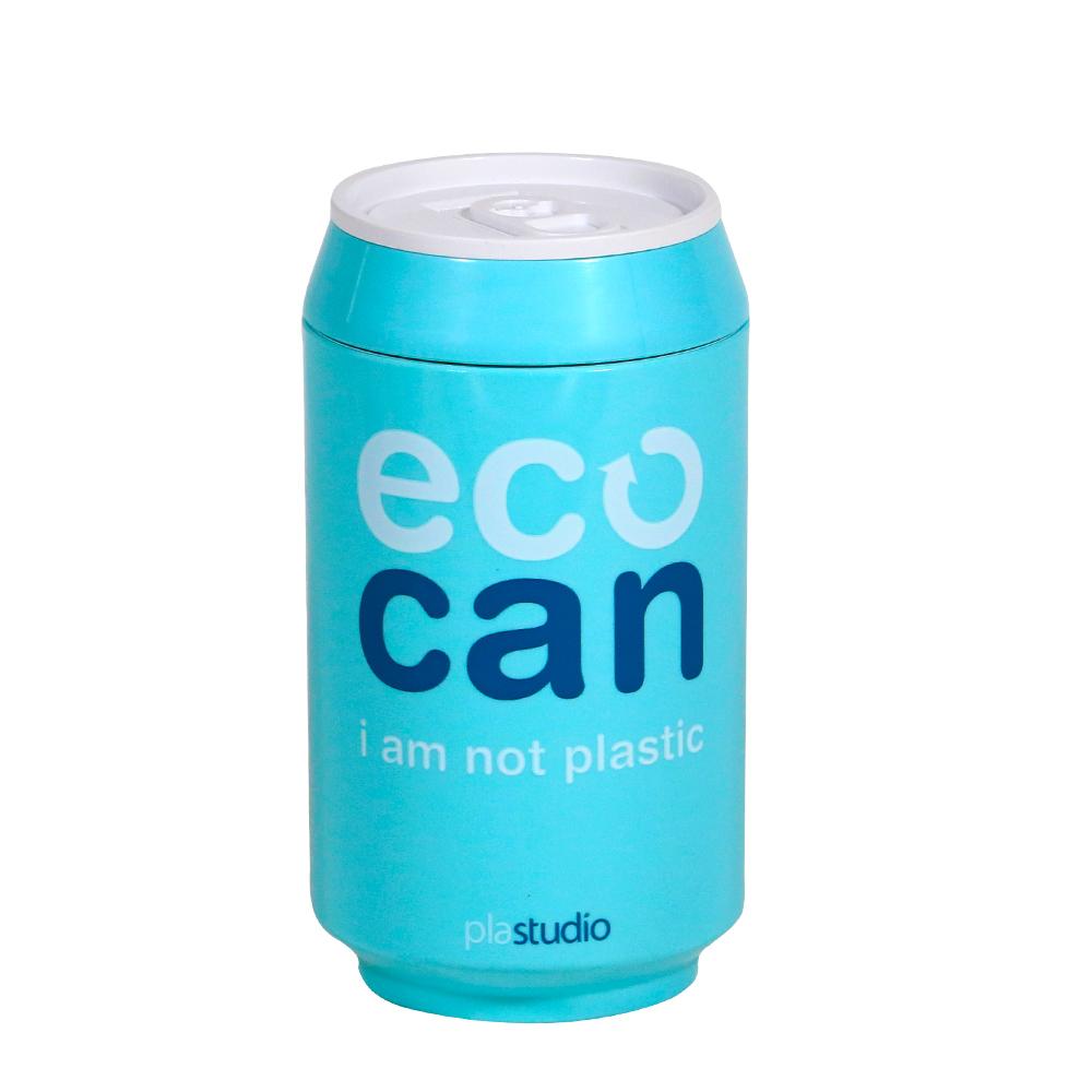 plastudio|玉米材質環保杯-Eco Can-280ml-水藍色-生物可分解材料