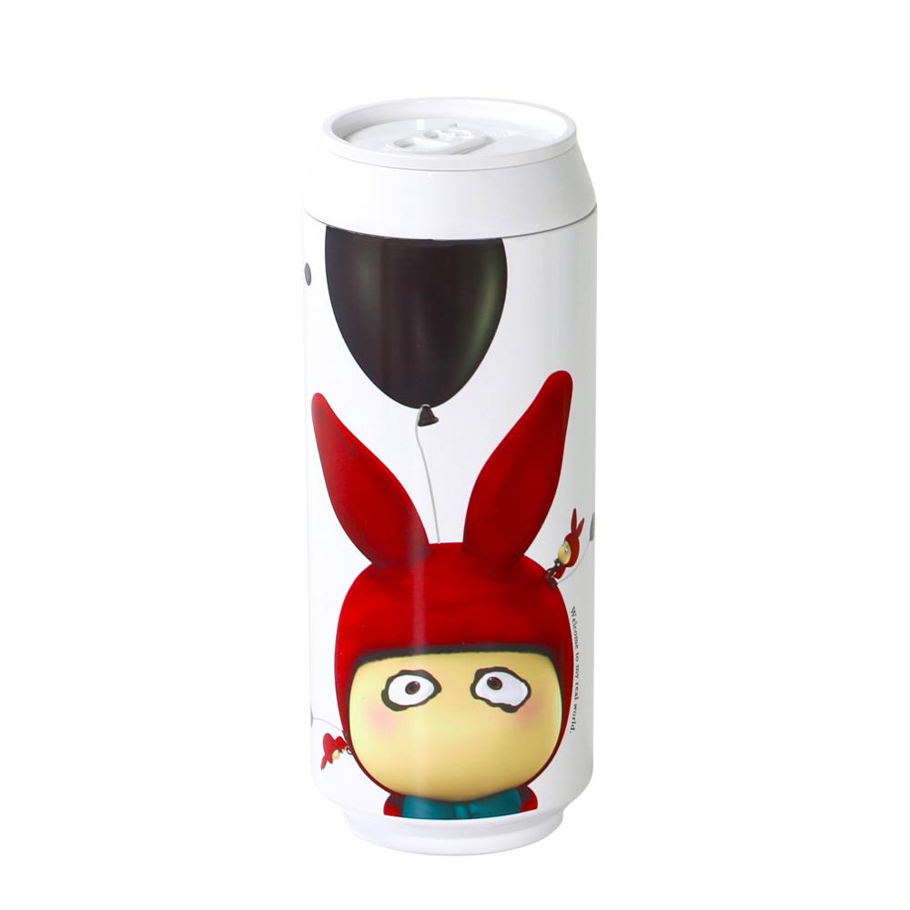 plastudio|玉米材質環保杯-Eco Can-420ml-Rabbit 限量版-白色-生物可分解材料