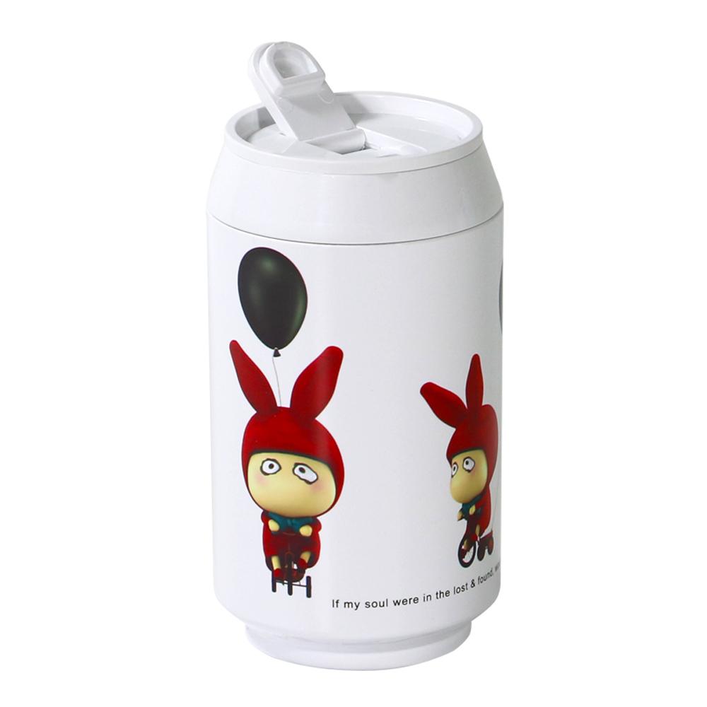 plastudio|玉米材質環保杯-Eco Can-280ml-Rabbit 限量版-白色-生物可分解材料