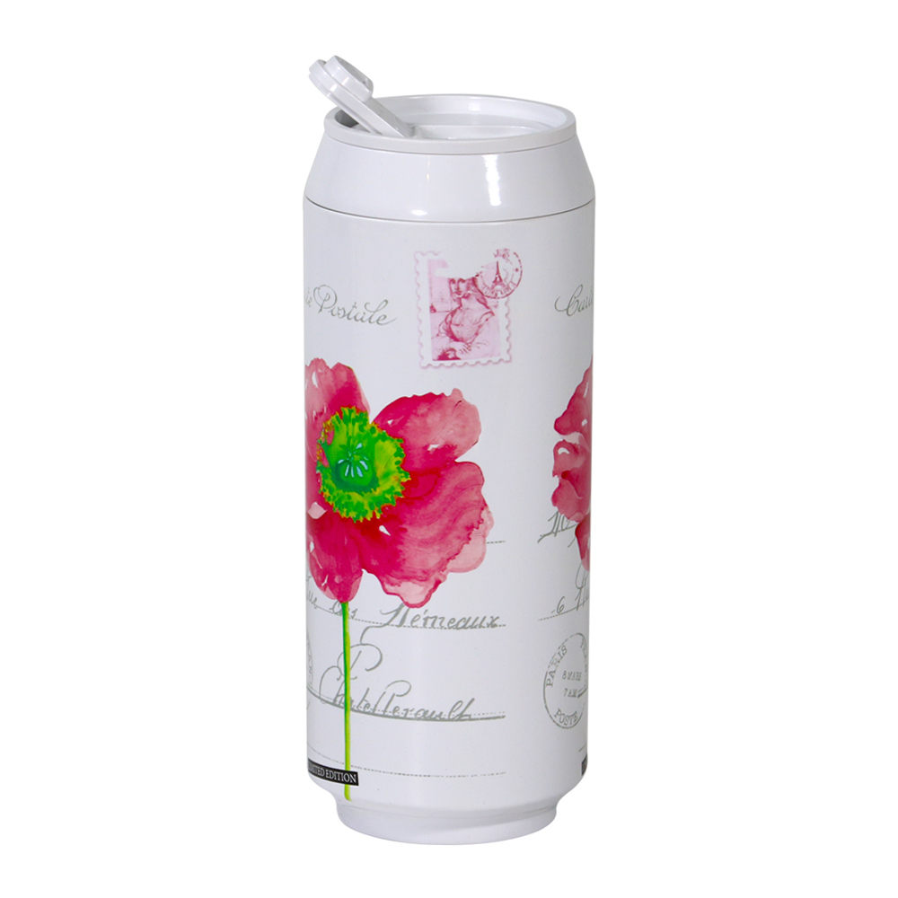 plastudio 玉米材質環保杯-Eco Can-420ml-Flower 限量版-白色-生物可分解材料