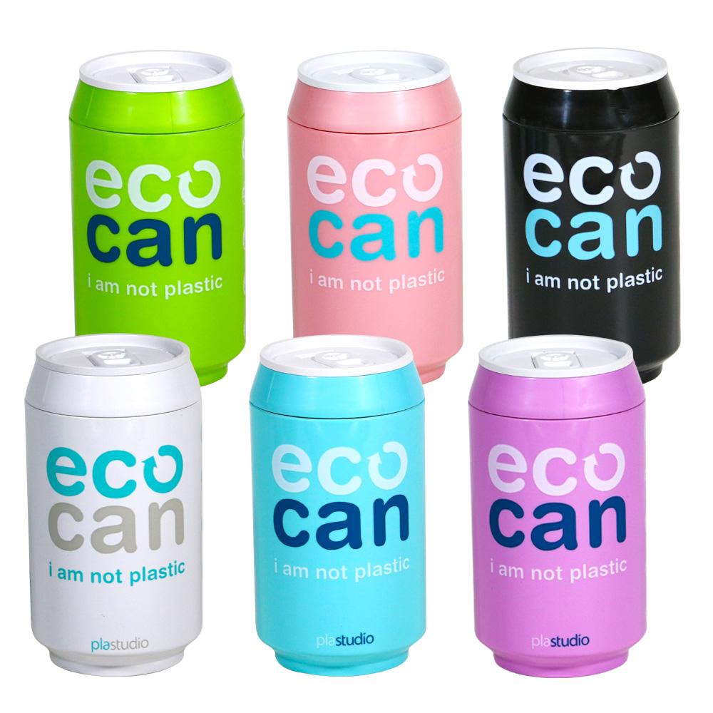 plastudio|玉米材質環保杯-Eco Can-280ml-Flower 限量版-白色-生物可分解材料