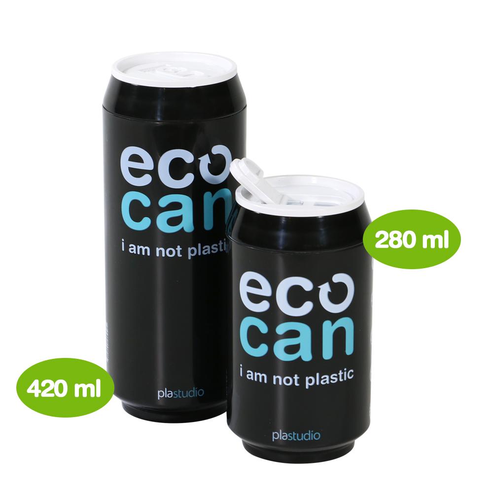 plastudio|玉米材質環保杯-Eco Can-420ml-黑色-生物可分解材料