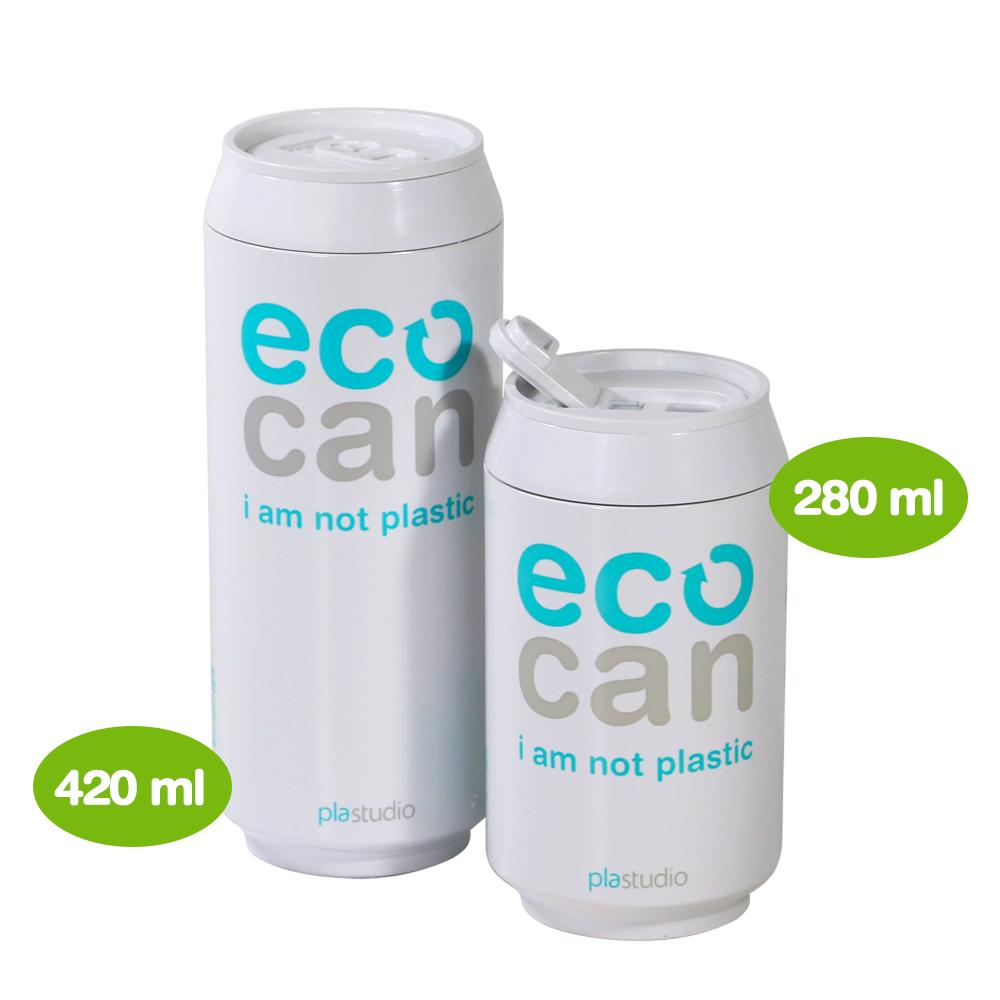 plastudio|玉米材質環保杯-Eco Can-420ml-白色-生物可分解材料