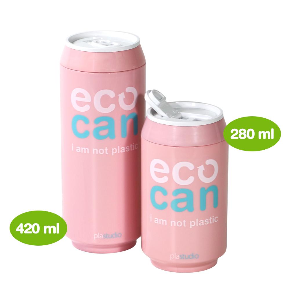 plastudio|玉米材質環保杯-Eco Can-420ml-粉紅色-生物可分解材料
