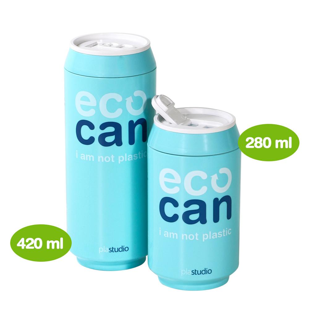 plastudio|玉米材質環保杯-Eco Can-420ml-天藍色-生物可分解材料